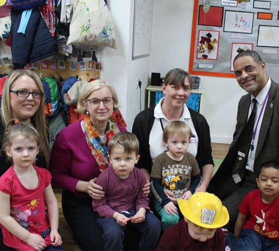 Ofsted Chief Inspector Amanda Spielman visits BCoT's 'Outstanding' nursery