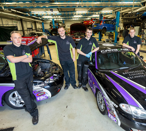 Successful race day for motorsport students