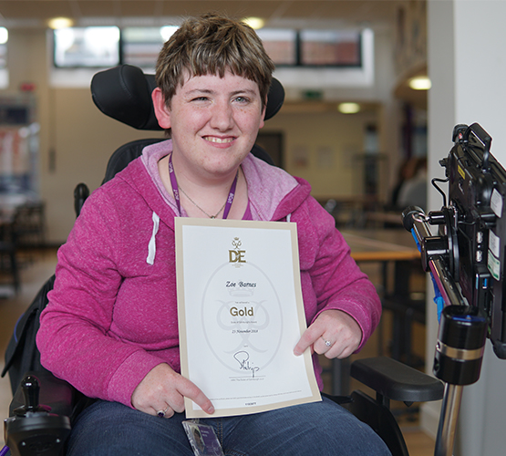 Palace visit for Gold award winner Zoe