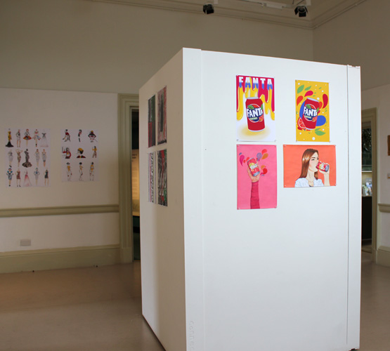 BCoT art and design students showcase their work in local exhibition