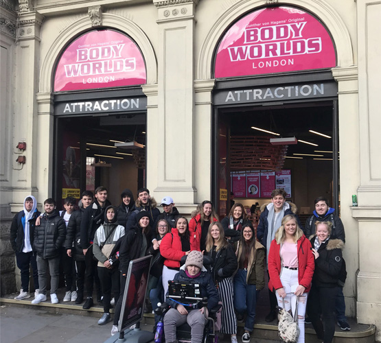 BCoT students visiting Body Worlds London