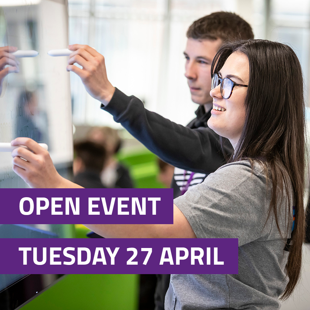 Open Event Tuesday 27 April