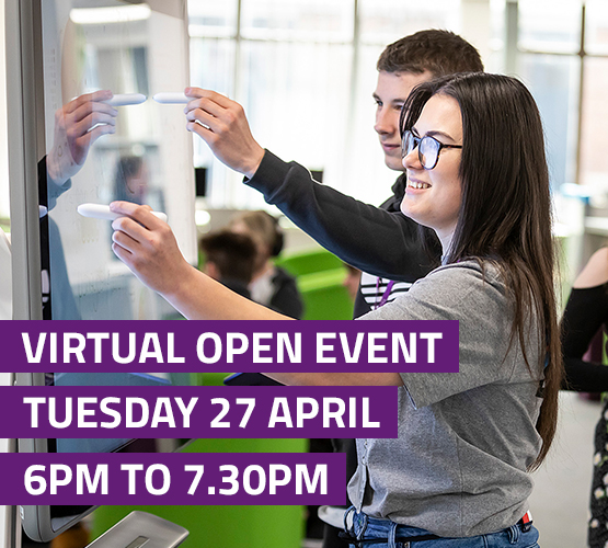 Virtual Open Event Tuesday 27 April